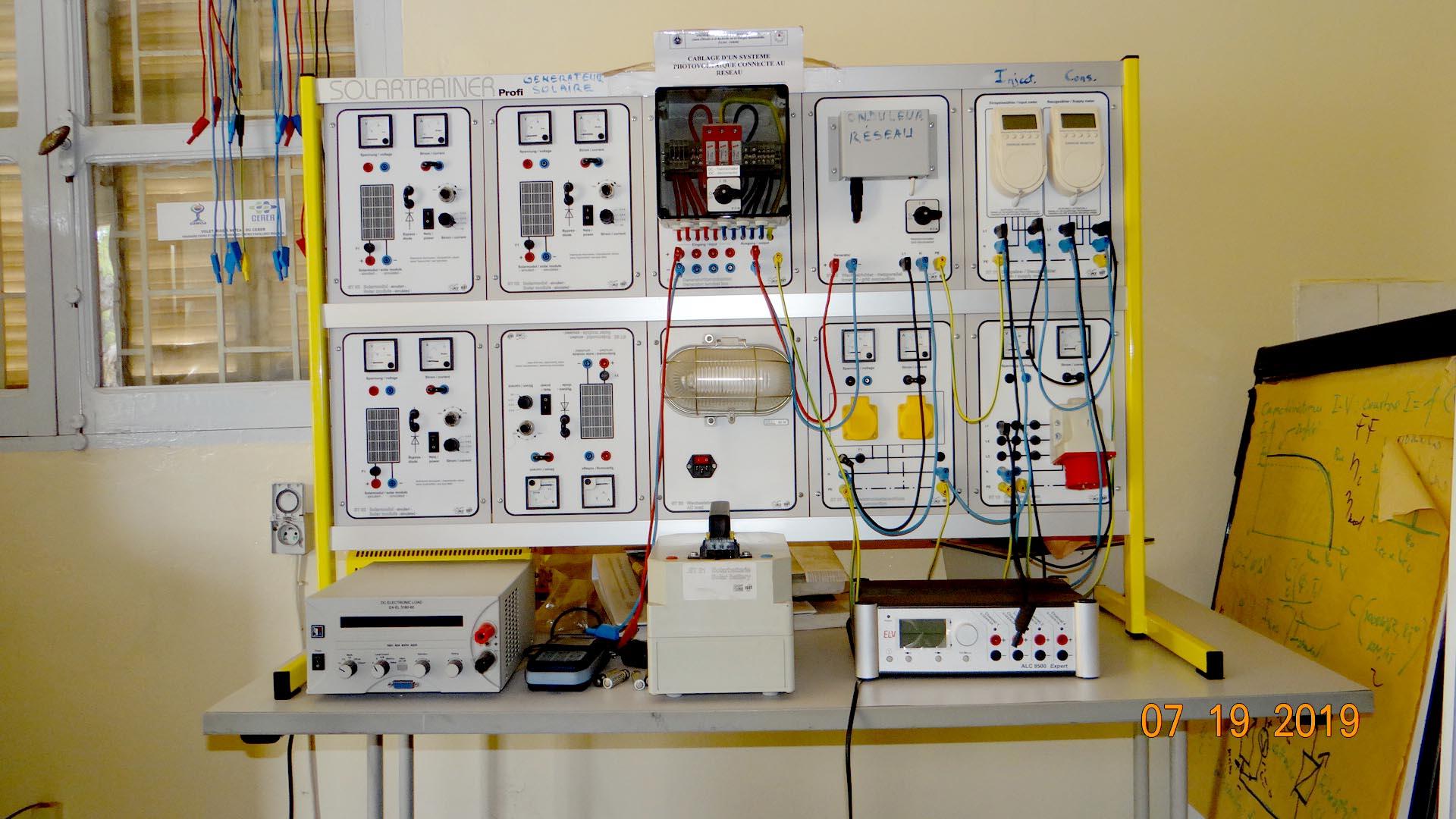 Une avancée pour la formation pratique dans le domaine de l'énergie solaire photovoltaïque